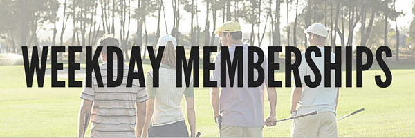 Weekday Memberships: categories and prices are listed in the table below.